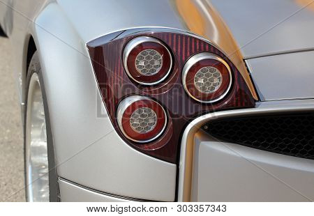 The Tail Lights On A Sports Car