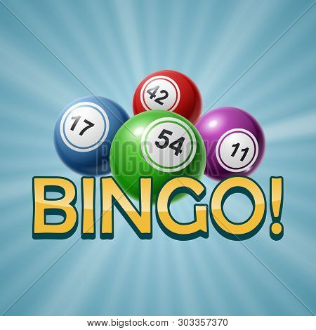 Bingo Or Lottery Number Balls Set Colorful. Vector Illustration