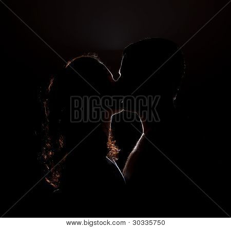 Silhouette Of A Kiss