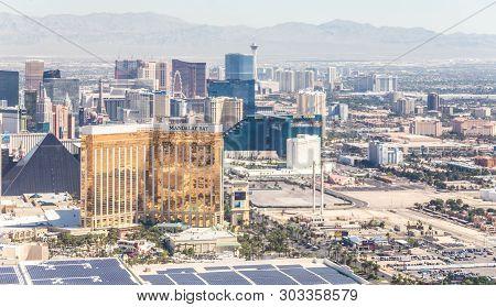 Las Vegas, Nevada, Usa - 13 May, 2019: Panorama Of Las Vegas, Nevada, Usa At Daytime