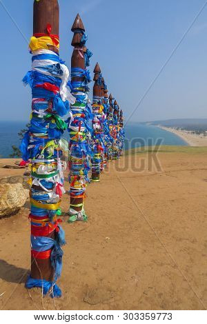 Serge Posts In Khuzhir. Olkhon Island. Lake Baikal. Serge A Post For The Hitching Post. The Establis