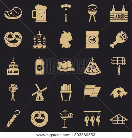 Hangout Icons Set. Simple Set Of 25 Hangout Vector Icons For Web For Any Design