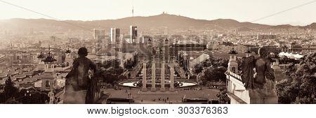 The landmark Placa Espanya in Barcelona Spain poster