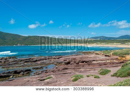 Landscape Of The Coast Near Porto Ferro Beach