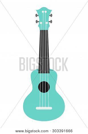 Ukulele Guitar On The White Background. Vector Illustration.