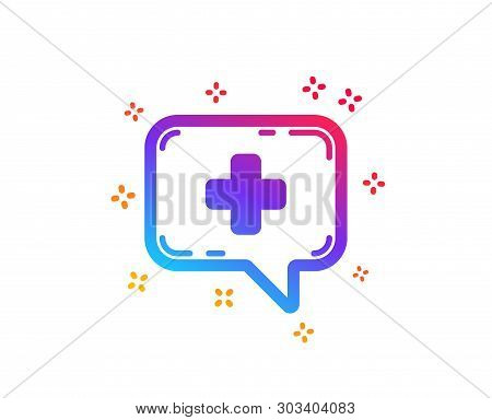 Medicine Chat Icon. Medical Help Sign. Dynamic Shapes. Gradient Design Medical Chat Icon. Classic St