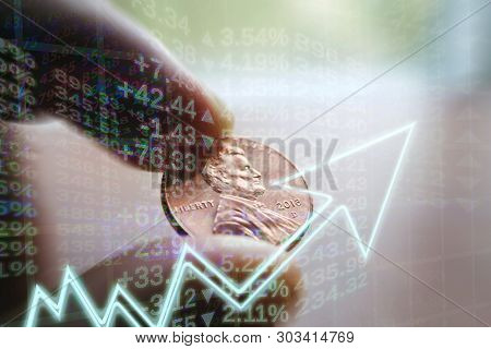 Investments Growing Concept Through Compound Interest & Dividend Reinvestment poster