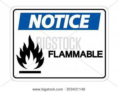 Flammable Flammable Symbol Sign Isolate On White Background,vector Illustration