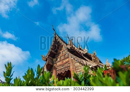 Wat Ton Kain, Old Temple Made From Wood.
