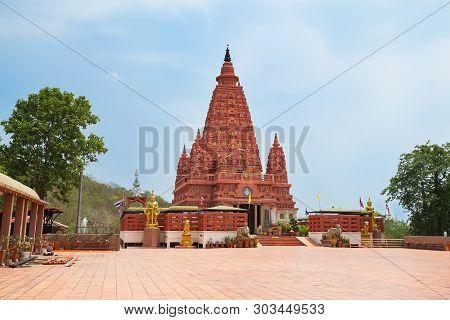 Bodh Gaya Pagoda In Wat Pa Siri Wattana Wisut, Nakhon Sawan, Thailand.