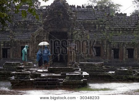 Preah Khan in the rain
