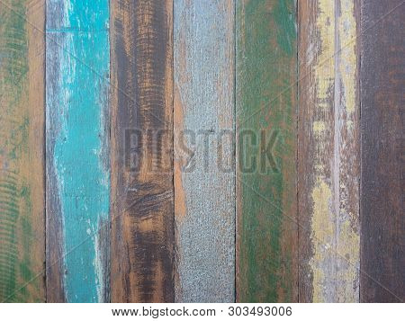 Pastel Wood Planks Material Texture Background.