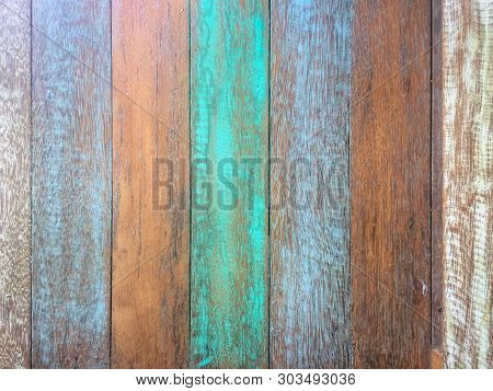 Pastel Wood Planks Material Texture Background For Wallpaper, Old Wood, Turquoise, And Blue Color Vi