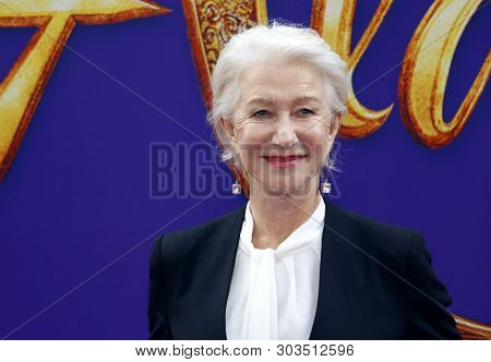 Helen Mirren at the Los Angeles premiere of 'Aladdin' held at the El Capitan Theatre in Hollywood, USA on May 21, 2019.