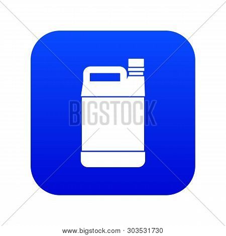 Jerrycan Icon Digital Blue For Any Design Isolated On White Vector Illustration