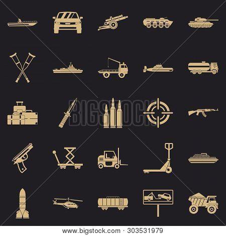 War Burden Icons Set. Simple Set Of 25 War Burden Vector Icons For Web For Any Design