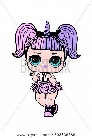 Lol Doll Design. Cute Baby Girl. Lol Surprise Doll.