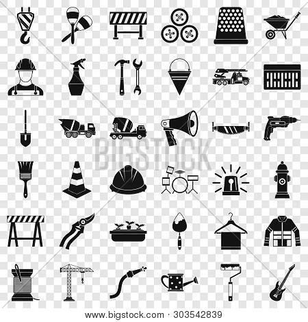 Screwdriver Icons Set. Simple Style Of 36 Screwdriver Vector Icons For Web For Any Design