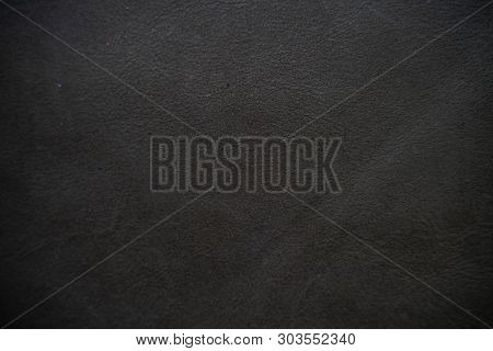 Black Abstract Genuine Cowhide Texture Luxury Background