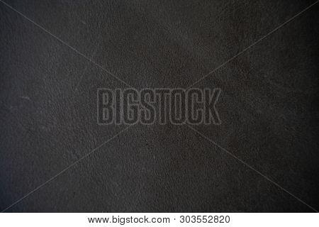 Abstract Black Genuine Cowhide Texture Luxury Background