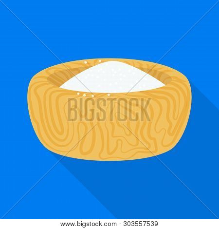 Vector Illustration Of Bowl And Salty Logo. Collection Of Bowl And Hill  Vector Icon For Stock.