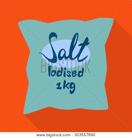 Vector Illustration Of Bag And Salty Sign. Collection Of Bag And Powder Stock Vector Illustration.
