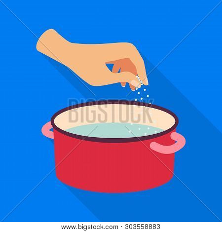 Vector Design Of Casserole And Water Sign. Set Of Casserole And Arm Vector Icon For Stock.