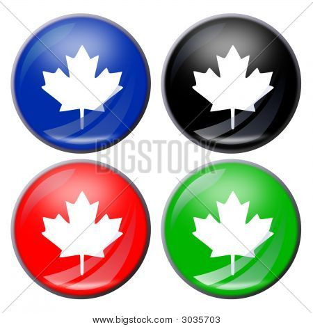 Maple Leaf Button