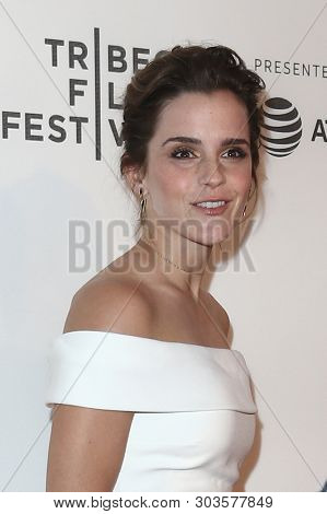 NEW YORK - APR 26: Emma Watson attends the premiere of 'The Circle' during the 2017 Tribeca Film Festival at the BMCC Tribeca PAC on April 26, 2017 in New York City.