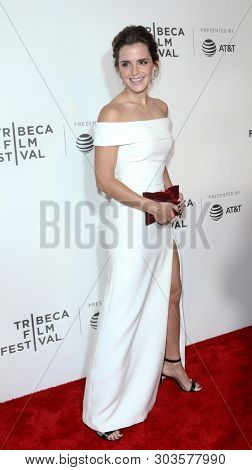 NEW YORK - APR 26: Emma Watson attends 'The Circle' screening during the 2017 TriBeCa Film Festival at BMCC Tribeca PAC on April 26, 2017 in New York City.