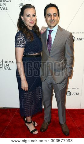 NEW YORK - APR 26: Amir Talai (R) and wife Nina attend 'The Circle' screening during the 2017 TriBeCa Film Festival  at BMCC Tribeca PAC on April 26, 2017 in New York City.