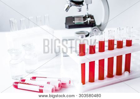 Medical Equipment Blood Test In Laboratory No One