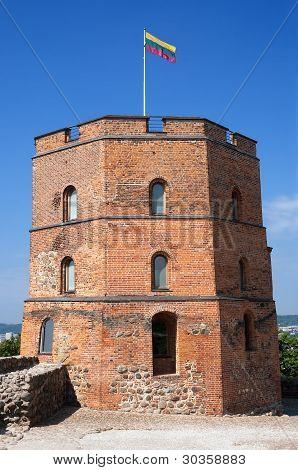 Gediminas Castle Tower In Vilnius