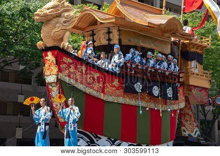 Kyoto, Japan - July 24 2018 : Gion Matsuri Festival, The Most Famous Festivals In Japan. Participant