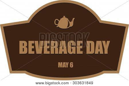 Shortcut For May Event Beverage Day. Vector