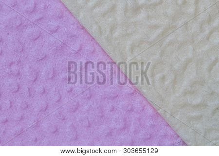 The Surface Of The Fine Compressed Paper Is Yellow-gray In Color And Pink As A Background. Excellent