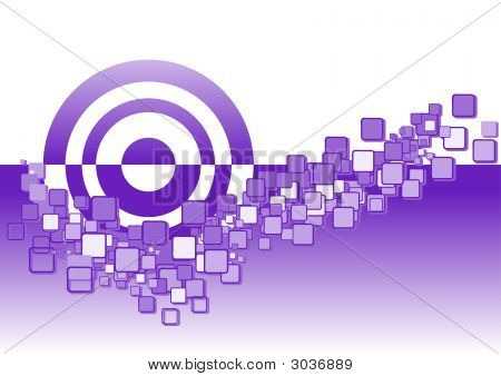 Abstract Squares And Circles 1 - Purple
