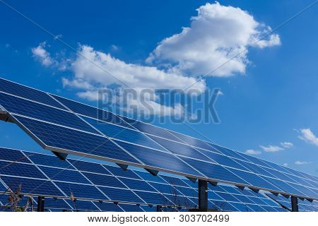 Solar Panel, Alternative Electricity Source, Concept Of Sustainable Resources, And This Is A New Sys
