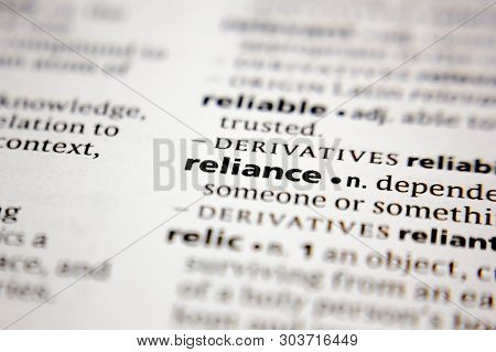 Word Or Phrase Reliance In A Dictionary.