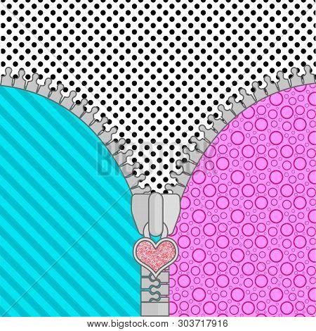 Cute Lol Doll Surprise Background With Open Zipper . Birthday Congratulation Or Invitation Fashion G