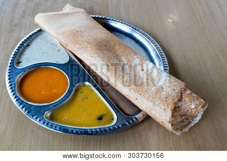 Thosai Or Tosai Is Popular Indian Food In Malaysia