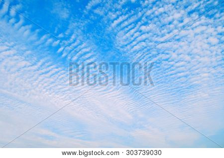 Dramatic sky landscape scene with colorful clouds, panoramic vast sky landscape. Natural picturesque sky landscape