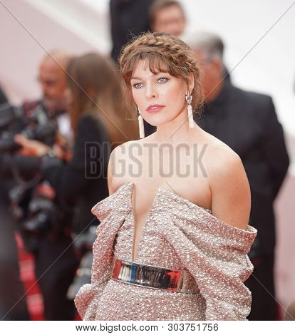 CANNES, FRANCE - MAY 24: Milla Jovovich attends the screening of