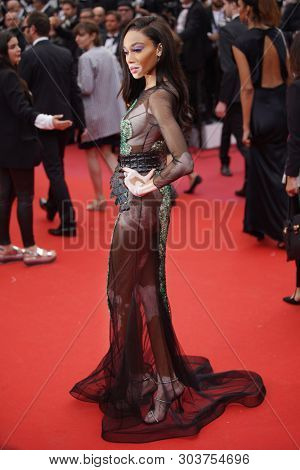 CANNES, FRANCE - MAY 22, 2019: Winnie Harlow attends the screening of