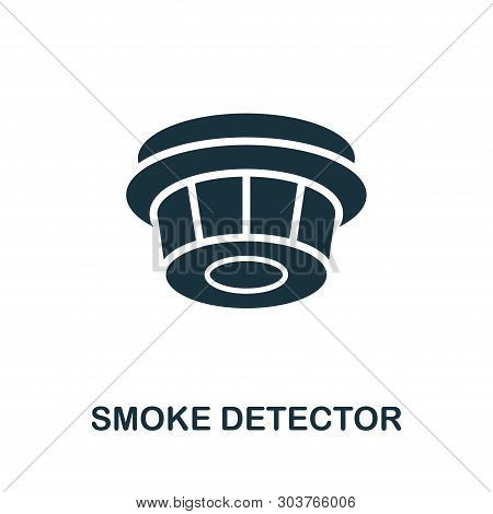 Smoke Detector Icon. Creative Element Design From Fire Safety Icons Collection. Pixel Perfect Smoke