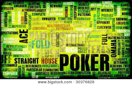 Poker Game of Texas Hold'em Rules and Concept