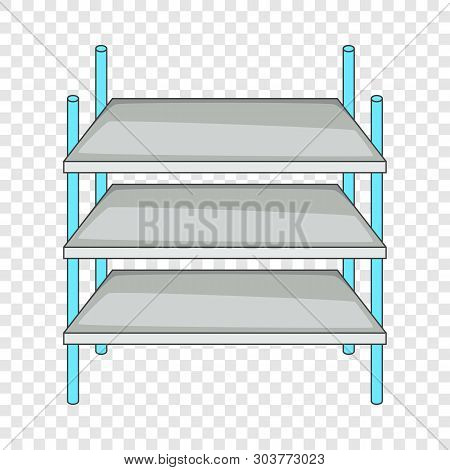 Industrial Shelving Icon. Cartoon Illustration Of Industrial Shelving Vector Icon For Web Design