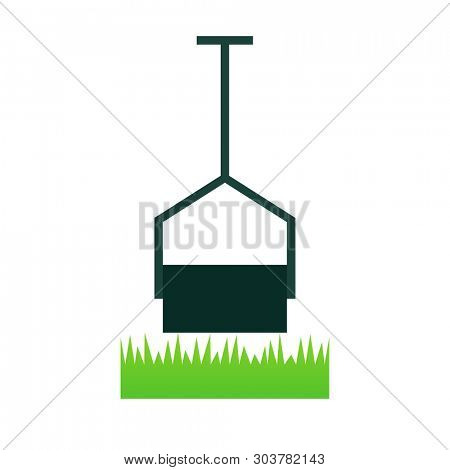 Lawn Roller icon. Lawn care clipart isolated on white background