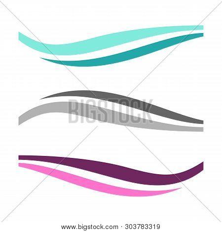 Swoosh Wave Vector Logo Template Illustration Design Illustration Design