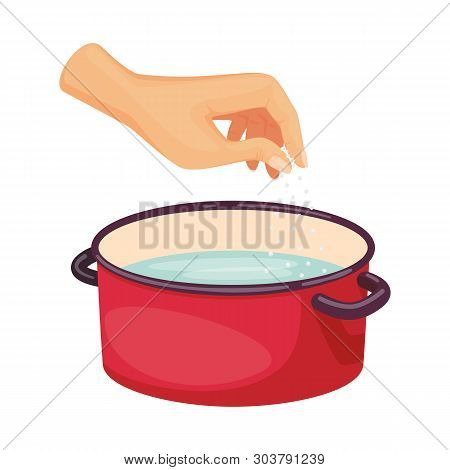 Vector Design Of Casserole And Water Logo. Collection Of Casserole And Arm Stock Vector Illustration